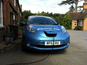 leaf charging at EV Info HQ