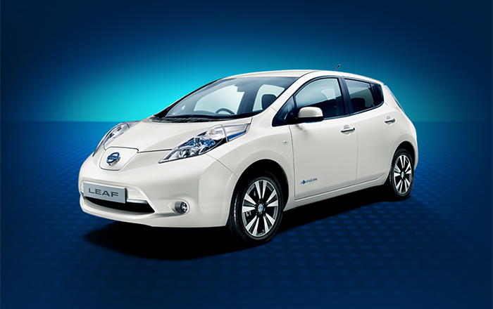 Nissan leaf 2013 white