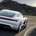 porsche mission E rear view