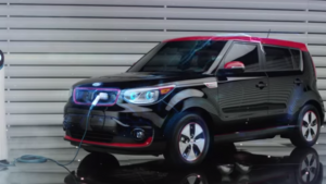 kia soul ev charging with a cable