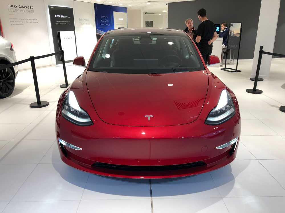 tesla model 3 at tesla london